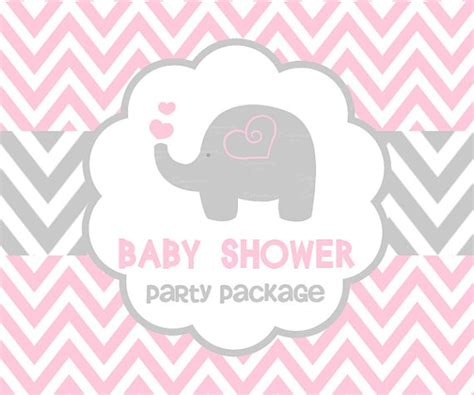 Pink Elephant Baby Shower by Baby Shower Pink Elephant Package