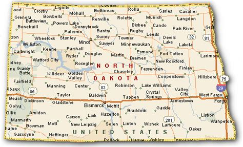 road map nd map of dakota cities and towns swimnova