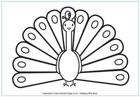indian peacock coloring page peacock colouring page