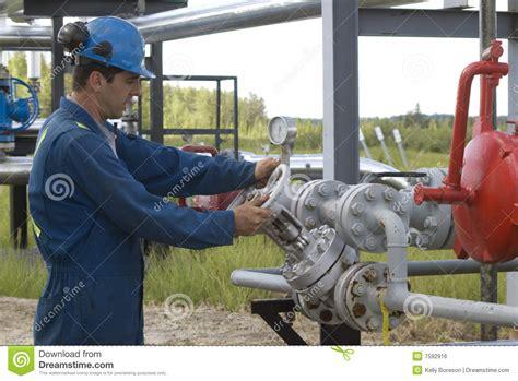 gas production operator royalty free stock image image