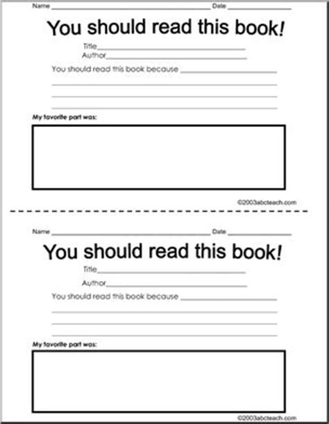 book recommendation cards template book recommendation form abcteach
