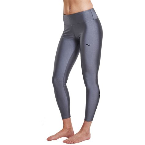 Liza Silver rohnisch liza shiny womens silver running tights