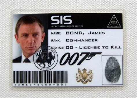 mi6 id card template carte identification bond sis