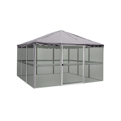 casita screen house best buy casita 21122 12 panel square screen house white frame with grey roof