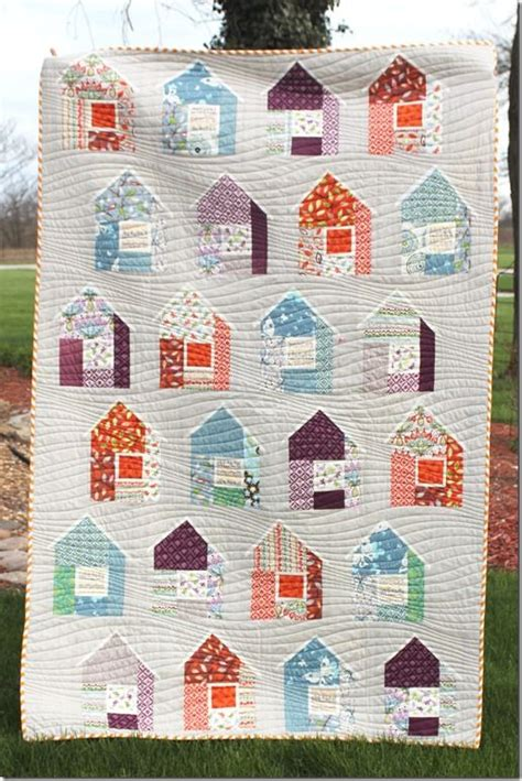 quilt pattern houses house quilt scrap attack pinterest