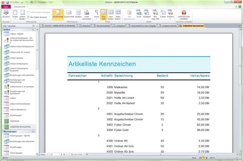 Access Design Vorlagen Office Access 2010 Ingrid Koslowski