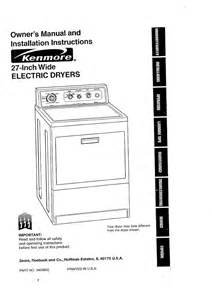 Kenmore Clothes Dryer Repair Manual Kenmore Electric Dryer Repair Manual Blow Drying