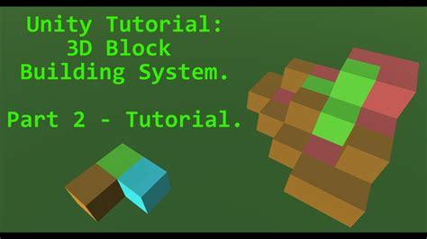 tutorial unity ads unity tutorial 3d block system pt 2 tutorial youtube