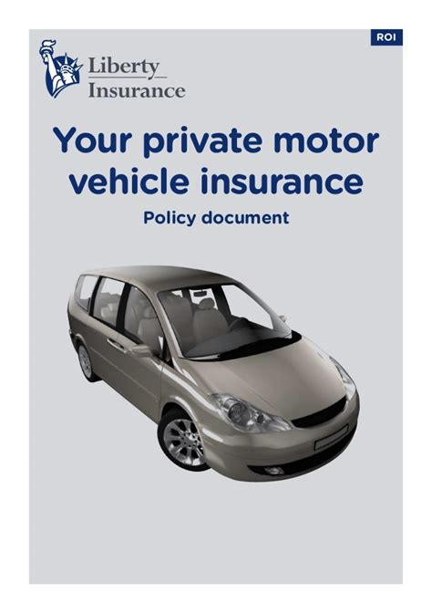 motor vehicle insurance liberty car insurance policy ireland