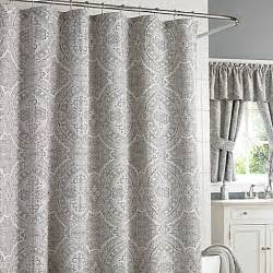 New Shower Curtains J Queen New York Colette Shower Curtain In Silver Bed