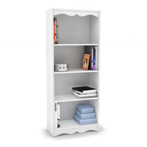 sonax s 117 nhl hawthorn 60 quot bookcase in white