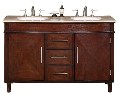 cambridge 55 in sink bathroom vanity contemporary