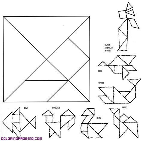 printable animal tangrams free coloring pages of tangram