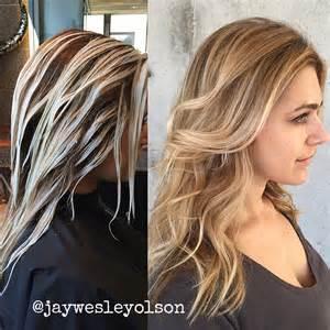 balayage coloring ombre balayage and color melting brown hairs