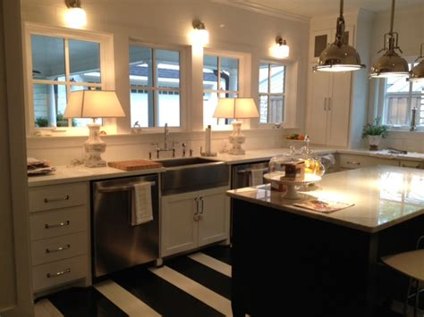 Black And White Striped Kitchen Rug by Black And White Striped Rug Transitional Kitchen