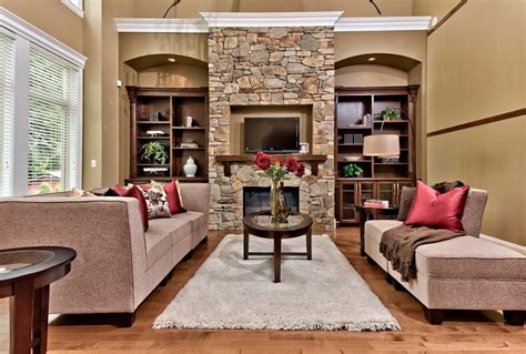narrow living room layout with fireplace amiably warm living room ideas with stone fireplace abpho