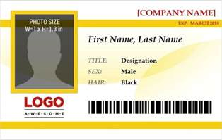 ms word photo id badge sample template word amp excel