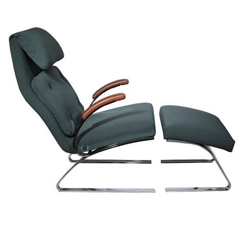 mcm chair and ottoman mcm milo baughman leather and fabric lounge chair and