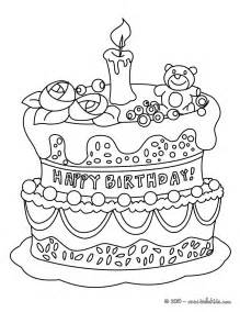 birthday cake coloring pages hellokids