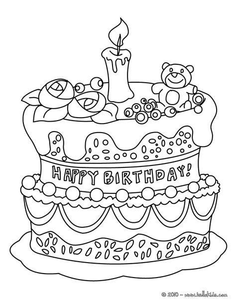 birthday cake coloring pages hellokidscom
