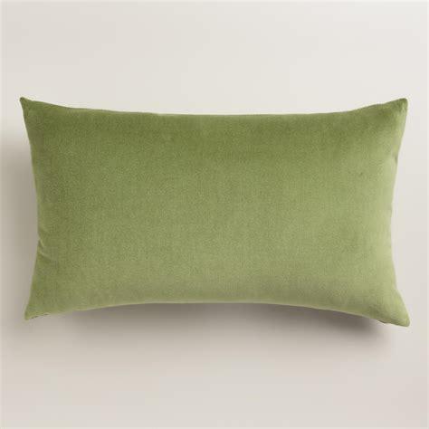 iguana green velvet lumbar pillow world market