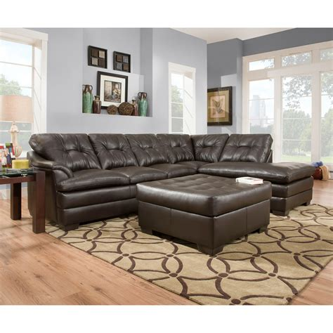 simmons upholstery apollo sectional with optional ottoman