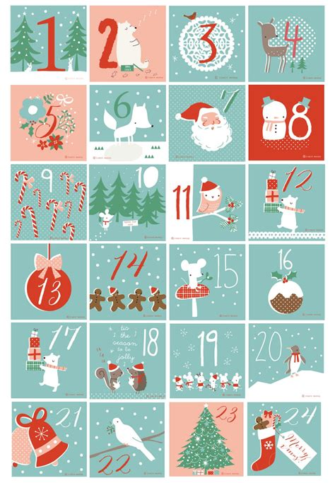 free printable advent calendar template free printable numbers used for our advent calendar