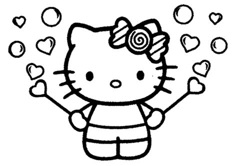 wallpaper hello kitty hitam putih mewarnai hello kitty terbaru murid 17