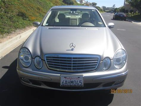 how to learn all about cars 2005 mercedes benz s class regenerative braking sell used 2005 mercedes benz e500 in dana point california united states for us 14 500 00