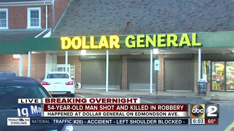 man shot killed after robbery at dollar general store in