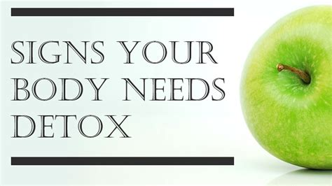 Signs And Symptoms Your Is Detoxing by 10 Signs Your Needs Detox Infographic