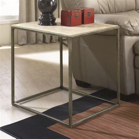 hammary modern basics end table hammary modern basics rectangular end table with bronze