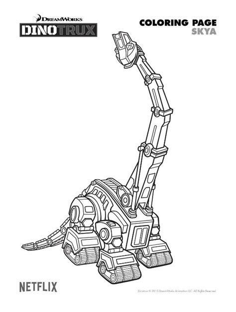 Dino Truck Coloring Page | free dinotrux skya coloring page mama likes this