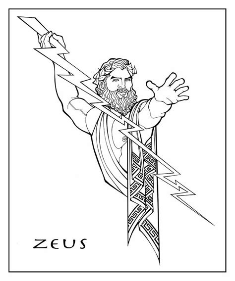 printable coloring pages of zeus zeus coloring history teaching antiquity pinterest