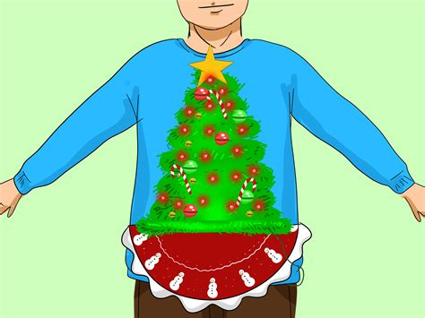 how to make a light up christmas sweater 3 ways to make an ugly christmas sweater wikihow