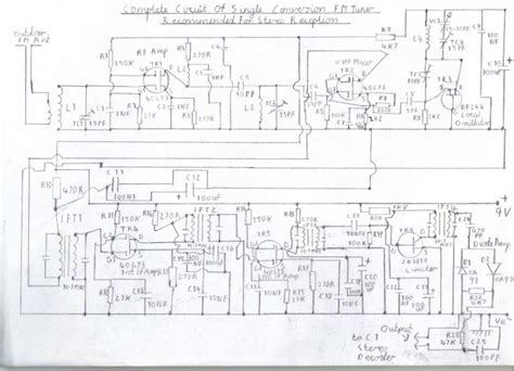 complete circuit diagram single conversion 6 transistor 10 7 mhz pulse counting