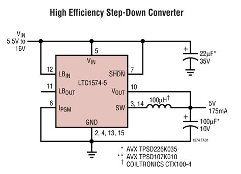 schottky diode protection circuit ltc1574 high efficiency step dc dc converters with schottky diode linear