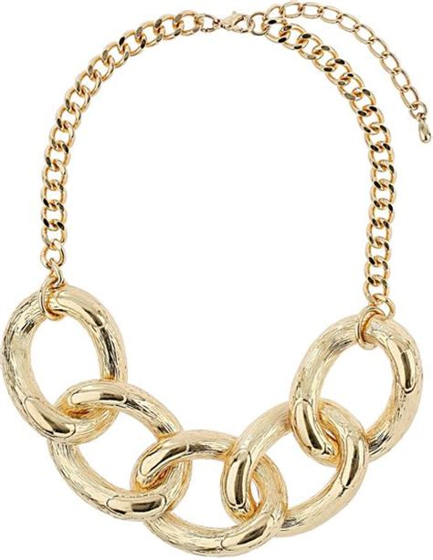 topshop large link chain necklace in gold lyst