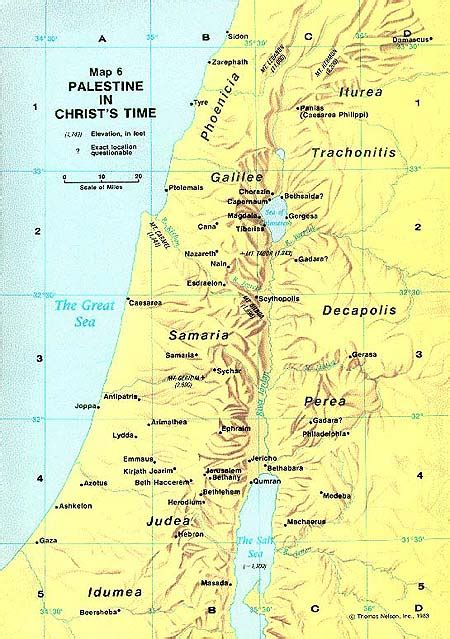 map of new testament jerusalem new testament geography