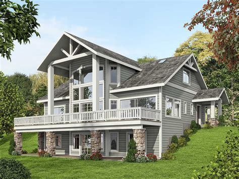 plan 35516gh mountain house plan with dramatic window