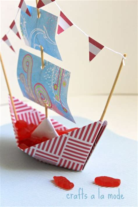 how to make a paper u boat how to make a paper boat bowl crafts a la mode