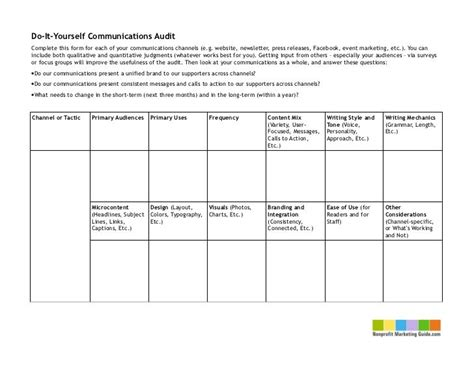 Image Result For Marketing Communications Audit Template Social Media Pinterest Marketing Social Skills Improvement System Report Template
