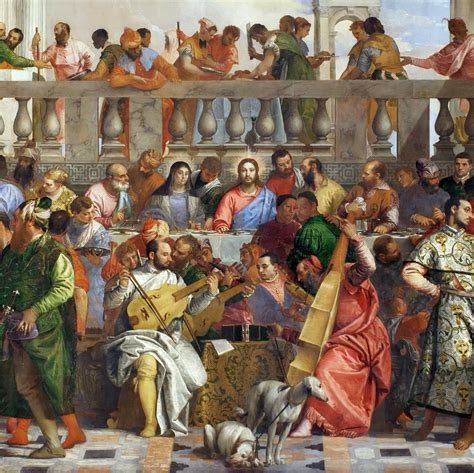 Wedding At Cana Painting In The Louvre by The Wedding At Cana By Paolo Veronese