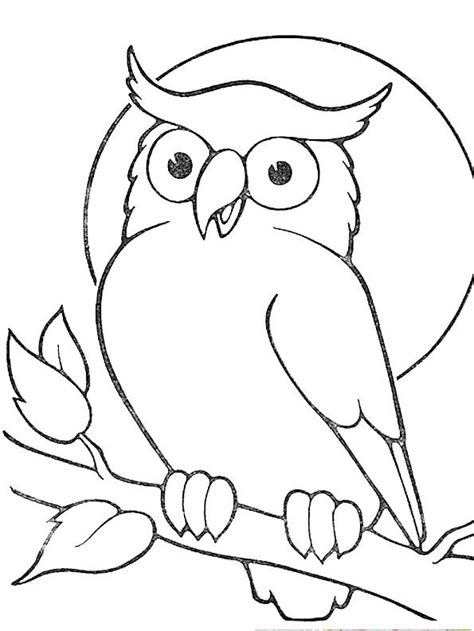 Owl Outlines Drawings by Outline Owl Sitting On Branch Sle Tattoos Branch Owl And