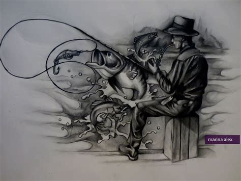 fishing tattoo design by marinaalex on deviantart
