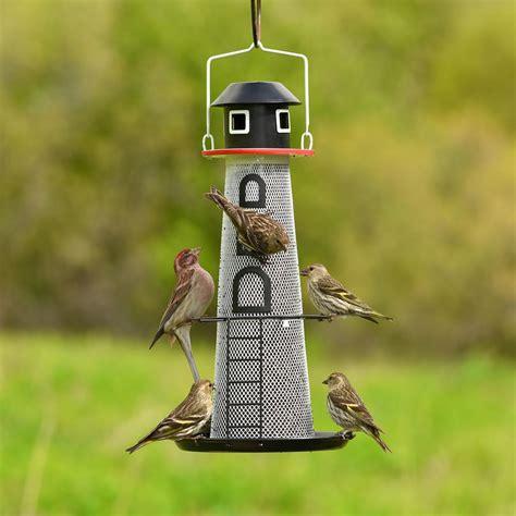 Finch Bird Feeders No No Solar Lighthouse Finch Bird Feeder
