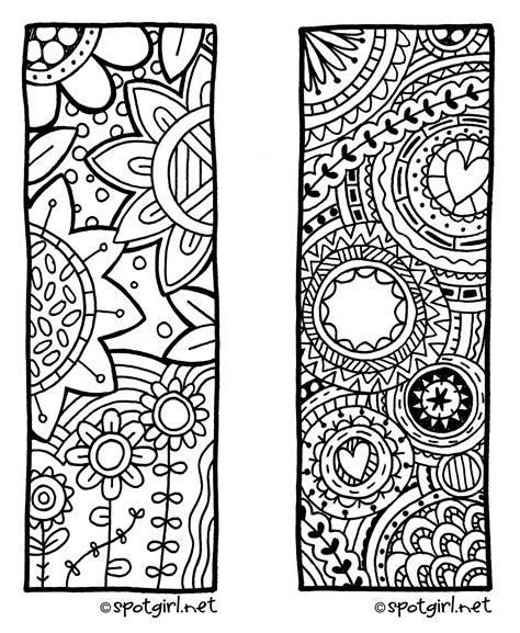 printable doodle bookmarks zentangle bookmark printable from spotgirl hotcakes