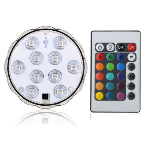 battery operated accent lights ir remote controlled rgb submersible led lights aa battery