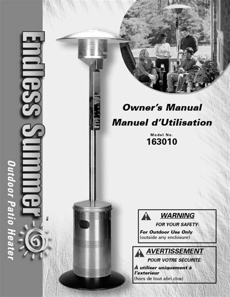 Endless Summer Outdoor Patio Heater Manual Icamblog Endless Summer Patio Heater Parts