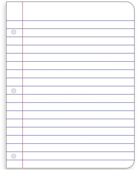 printable notebook paper with holes 41 best images about notebook paper templates on pinterest